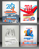 New Year Party Flyer. & Poster Cover Template Stock Photography