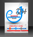 New Year Party Flyer Royalty Free Stock Photos