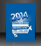 New Year Party Flyer Stock Image