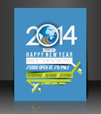 New Year Party Flyer. & Poster Cover Template vector illustration