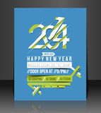 New Year Party Flyer Royalty Free Stock Photography