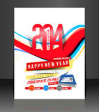 New Year Party Flyer. & Poster Cover Template royalty free illustration