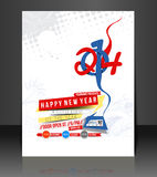 New Year Party Flyer. & Poster Cover Template stock illustration