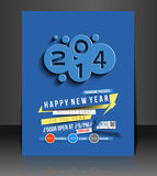 New Year Party Flyer Royalty Free Stock Image