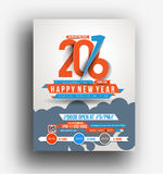 New Year Party Flyer Stock Photography