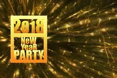 2018 New Year party gold fonts on dinamic blur backgroung for pa vector illustration