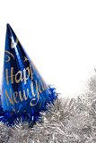 New year party hat and garland Royalty Free Stock Photography