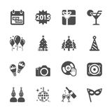 New year party icon set 2, vector eps10.  Royalty Free Stock Photos