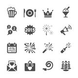 New year party icon set 3, vector eps10 Stock Image