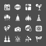New year party icon set 2, vector eps10 Royalty Free Stock Photos