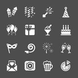 New year party icon set 6, vector eps10.  stock illustration