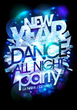 New year party icy design. Stock Photography