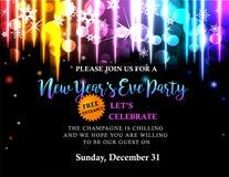New Year party invitation Stock Photo