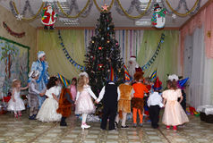 New Year party in the kindergarten Royalty Free Stock Photo