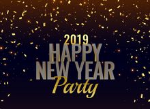 2019 new year party luxury background. Vector stock illustration