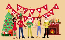 New Year party stock illustration