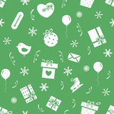 New Year party pattern Royalty Free Stock Photo