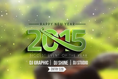 New Year Party Poster Design Royalty Free Stock Images