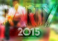 New Year Party Poster Design Stock Photo