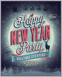 New Year Party Poster. Vector illustration Royalty Free Stock Photo