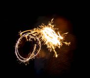 New year party sparkler Stock Photography