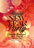 New Year Party vintage design. Eps10 Stock Photo