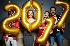 New Year party Stock Images