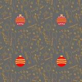 New year pattern. Ball new Vector Illustration