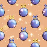 New Year pattern with ball. Christmas wallpaper Stock Photo