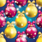 New Year pattern with ball. Christmas wallpaper Royalty Free Stock Photography