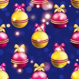 New Year pattern with ball. Christmas wallpaper Royalty Free Stock Photos