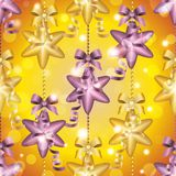 New Year pattern with ball. Christmas wallpaper Royalty Free Stock Photo