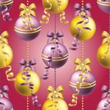New Year pattern with ball. Christmas wallpaper Stock Photos