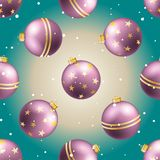 New Year pattern with ball. Christmas wallpaper Stock Image
