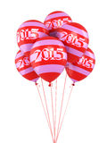New Year 2015. And pattern balloons render (isolated on white and clipping path Stock Photography