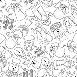 New year pattern, black and white Royalty Free Stock Images
