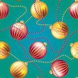 New Year pattern with Christmas ball. Sparkles and bokeh. Shiny and glowing Stock Photo