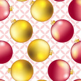 New Year pattern with Christmas ball. Sparkles and bokeh. Shiny and glowing Stock Photos