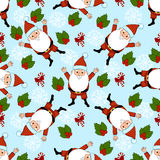New Year pattern with christmas decoration elements. Happy holidays pattern  Royalty Free Stock Photography