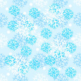New Year pattern with christmas decoration elements. Happy holidays pattern snow  Royalty Free Stock Photo