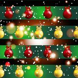 New year pattern with Christmas tree toys. Stock Photography