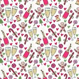 New Year pattern. Christmas wrapping paper. Cute seamless background   Royalty Free Stock Images