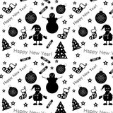 New year pattern. Vector. Stock Photo