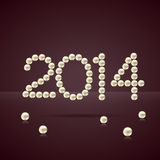 New year pearls. 2014 happy new year text made with pearls royalty free illustration