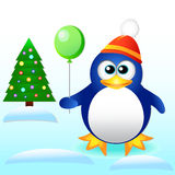 New Year. Penguin. Stock Photos