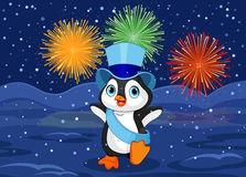 New Year Penguin Royalty Free Stock Photography
