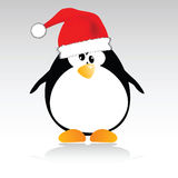New year penguin vector illustration Royalty Free Stock Images