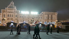 New Year 2015. People walk on the Red Square in Moscow. stock footage