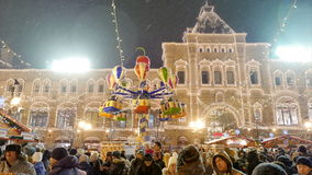 New Year 2015. People walk on the Red Square in Moscow. stock video