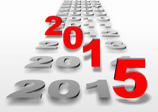 New year 2015. Perspective of many years and new year 2015 Stock Photos